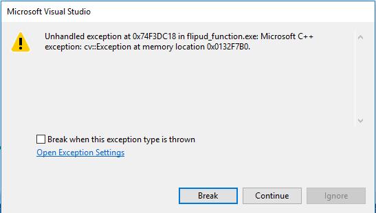 C++ - Visual Studio - компьютерное зрение (выравнивание с