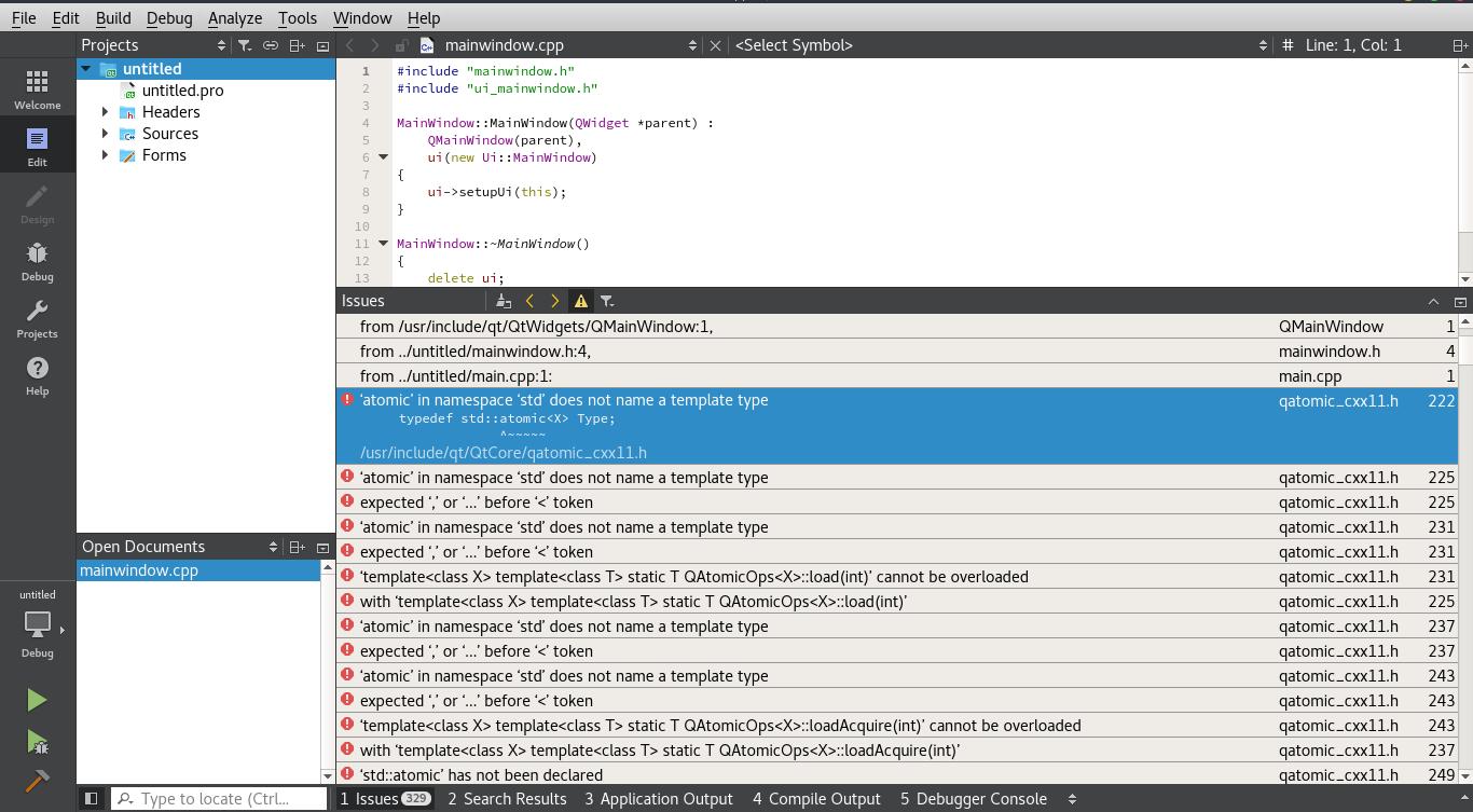 C++ - почему я не могу использовать qt для программирования
