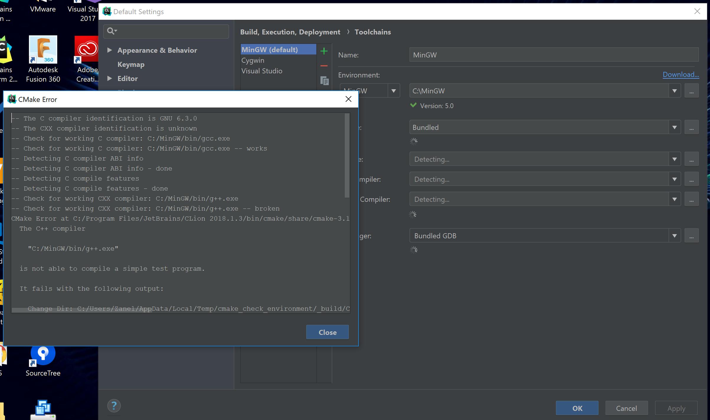 C++ - CMake не может установить в CLion - Web-Answers